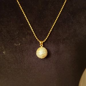 MK MICHAEL KORS gold ball Sweater necklace
